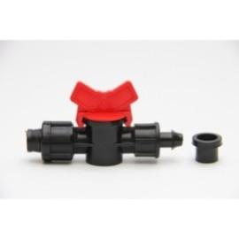 Водовземен кран с гъмено уплътнение 15 мм. за лентов капков маркуч