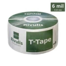 Лентов капков маркуч 6 mil/16 мм.- T-tape Rivulis